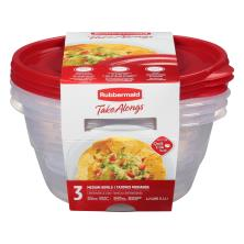 Rubbermaid Take Alongs Containers + Lids, Medium Bowls, 6.2 Cups