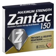 Zantac Acid Reducer, Maximum Strength, 150 mg, Tablets