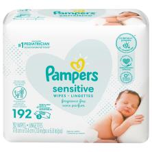Pampers Sensitive Wipes, Refills