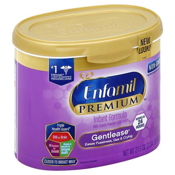 Enfamil Premium Gentlease Infant Formula, with Iron, Milk-Based Powder