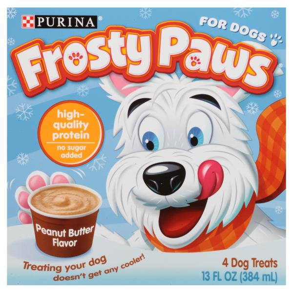 Frosty Paws Dog Treats, Frozen, Peanut Butter Flavor