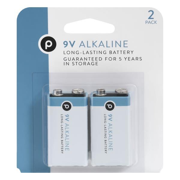 Publix Batteries, Alkaline, 9 V