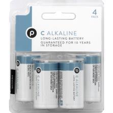 Publix Batteries, C Alkaline, 4 Pack