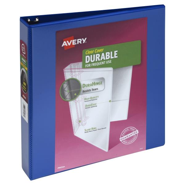 avery binder durable clear cover 1 1 2 inch publix com