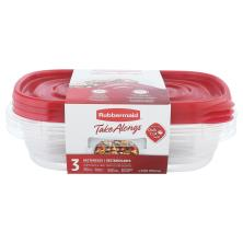 Rubbermaid Take Alongs Containers + Lids, Rectangles, 4 Cups (32 Ounces)