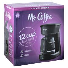 Mr Coffee Coffeemaker, Switch, 12 Cup
