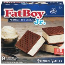 Fat Boy Jr. Ice Cream Sandwich, Premium Vanilla, Mini