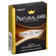 Trojan Condoms, Lubricated, Natural Skin, NaturaLamb