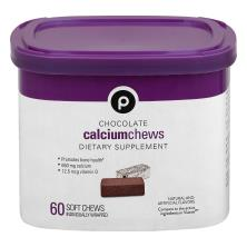 Publix Calcium Chews, Chocolate, Soft Chews