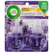 Air Wick Essential Oils Scented Oil Refills, Lavender & Chamomile Fragrance