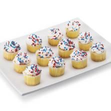 Patriotic Mini Vanilla Cupcakes