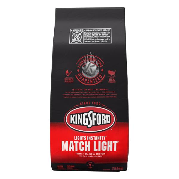 Kingsford Match Light Charcoal Briquets, Instant