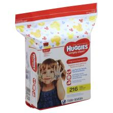 Huggies Simply Clean Wipes, Mickey Mouse and Friends, Fragrance Free