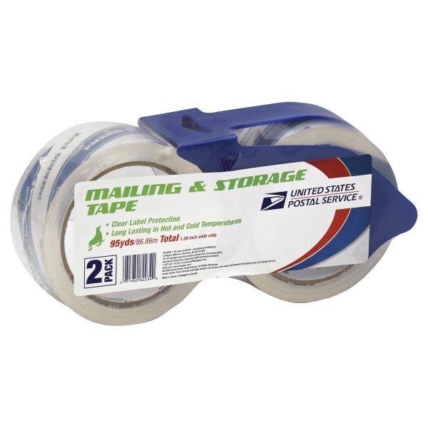 United States Postal Service Tape Mailing Storage 2 Pack