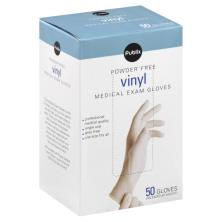 Publix Medical Exam Gloves, Powder Free, Vinyl