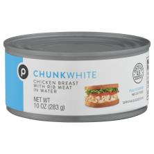Publix Chicken Breast, Chunk White, with Rib Meat in water