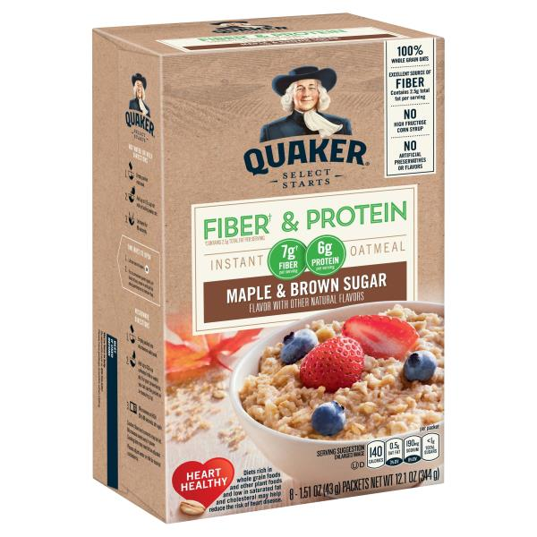 Quaker Select Starts Instant Oatmeal Weight Control Maple Brown Sugar
