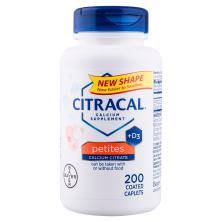 Citracal Calcium Citrate + D3, Petites, Coated Caplets