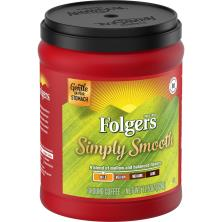 Folgers Simply Smooth Coffee, Ground, Medium