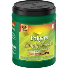 Folgers Simply Smooth Coffee, Ground, Medium, Decaf