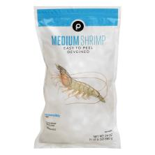 Publix White Shrimp, Medium, E-Z Peel, 41-50 Shrimp/Lb, Frozen, Farmed
