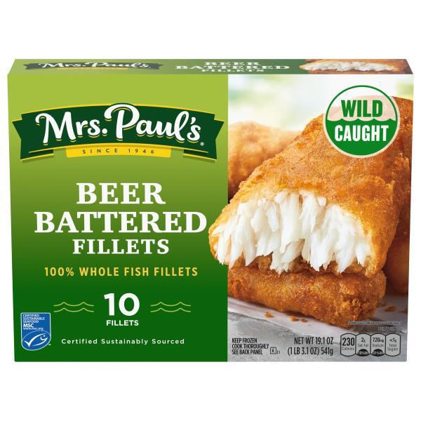Mrs Pauls Beer Battered Fillets