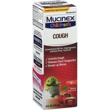 Mucinex Children's Cough, Cherry Flavor Liquid