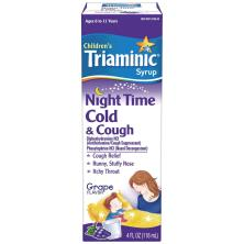 Triaminic Children's Cold & Cough, Night Time, Syrup, Grape Flavor