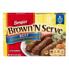 Banquet Brown 'N Serve Sausage Links, Fully Cooked, Beef