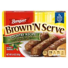 Banquet Brown 'N Serve Sausage Links, Fully Cooked, Country Recipe