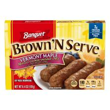 Banquet Brown 'n Serve Sausage Links, Fully Cooked, Maple
