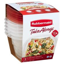 Rubbermaid Containers + Lids, Mini Deep Squares 2.1 Cups