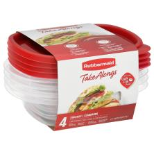 Rubbermaid Take Alongs Containers + Lids, Squares