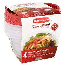 Rubbermaid Take Alongs Containers + Lids, Small Bowls, 3.2 Cups