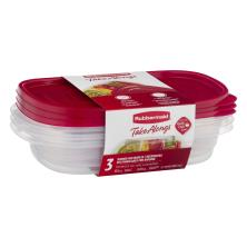 Rubbermaid Take Alongs Containers + Lids, Divided Rectangles, 3.7 Cups