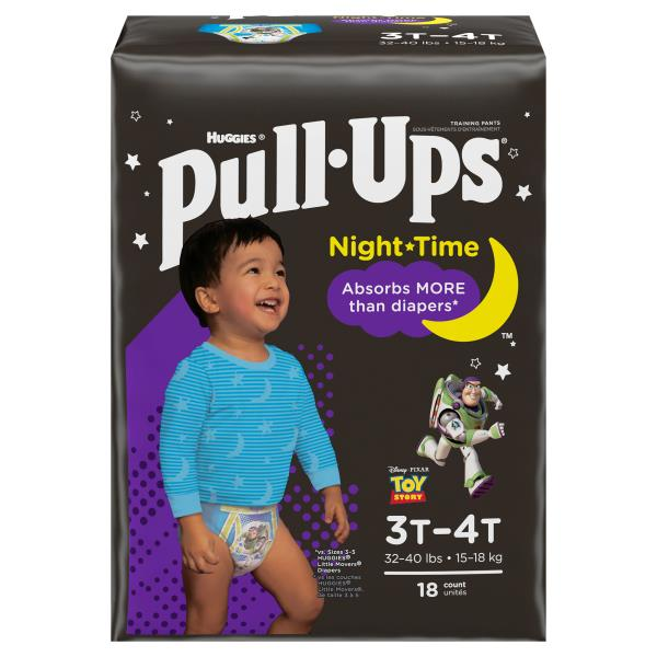 Pull Ups Night-Time Training Pants, for Boys, Size 3T-4T (32-40 lbs), Disney Toy Story