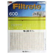 Filtrete Clean Living Air Cleaning Filter, Electrostatic, Dust Reduction, 16 x 20 x 1