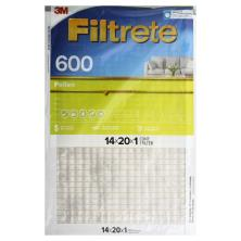 3m Filtrete Air Cleaning Filter, Dust & Pollen Reduction 14x20x1