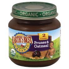 Earths Best Organic Prunes & Oatmeal, 2 (6 Months+)