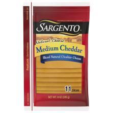 Sargento Sliced Cheese, Deli Style, Medium Cheddar