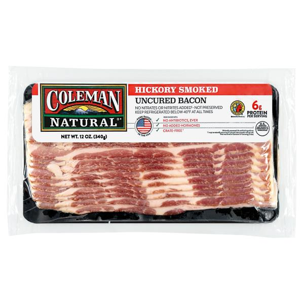 Coleman Bacon, Uncured Hickory Smoked