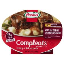 Hormel Compleats Meatloaf & Gravy, with Mashed Potatoes