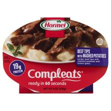 Hormel Compleats Beef Tips, with Mashed Potatoes