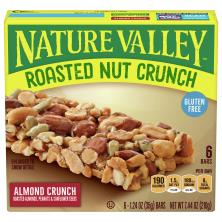 Nature Valley Crunch Bars, Roasted Nut, Almond Crunch