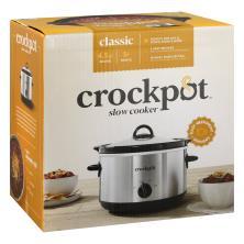 Crock Pot Slow Cooker, 4.5 Quart Round, Classic