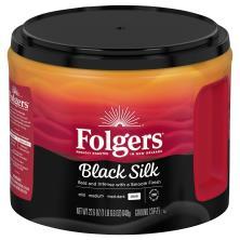 Folgers Coffee, Ground, Dark, Black Silk