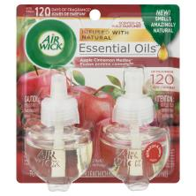 Air Wick Essential Oils Scented Oil Refills, Apple Cinnamon Medley Fragrance