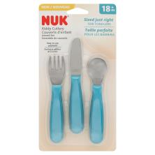 Gerber Graduates Kiddy Cutlery, Knife, Fork, & Spoon Set, 18+ M