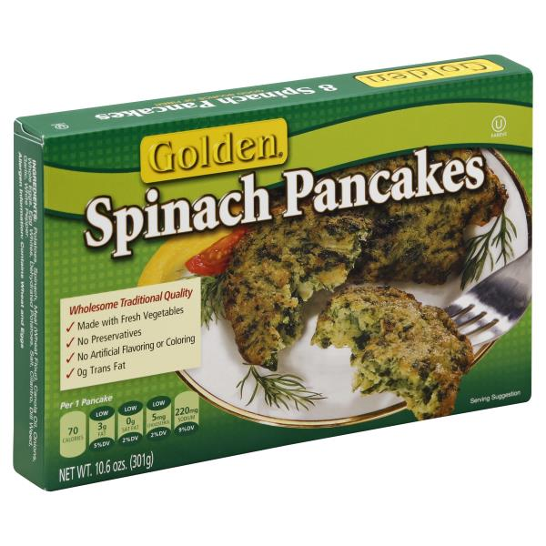 Golden Pancakes, Spinach