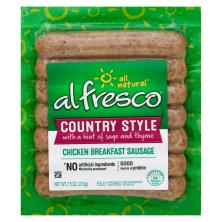 Al Fresco Chicken Sausage, Brerakfast, Country Style